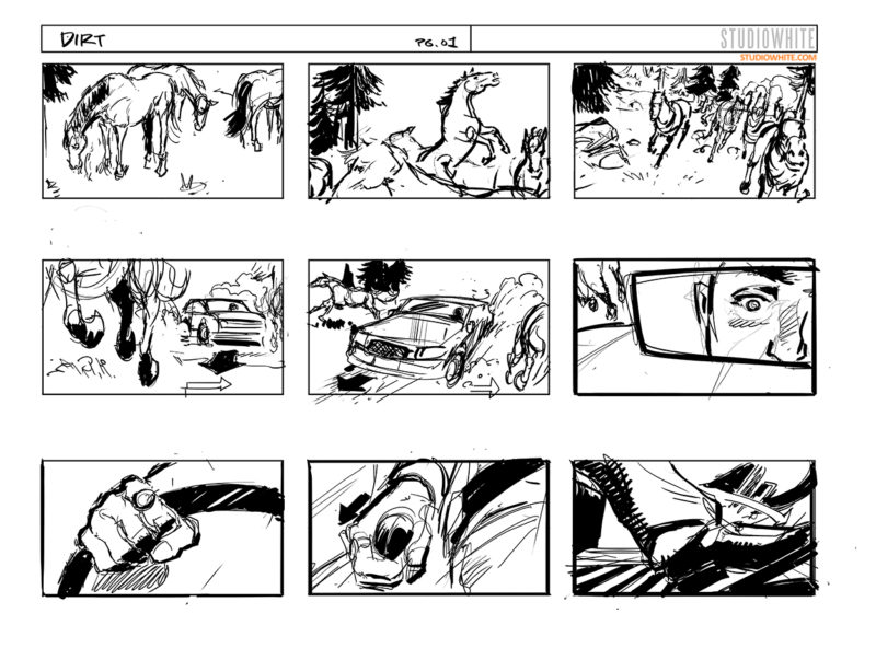 Studiowhite Visuals Concept Art  Storyboards  Page   The More