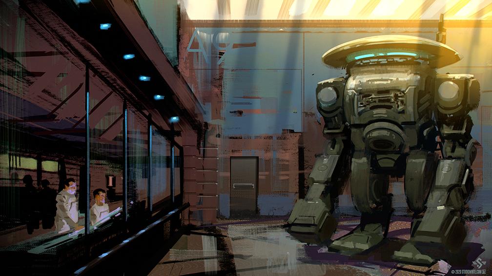 """Shane White"" ""Studiowhite"" ""concept art"" ""concept design"" ""speedpaint"" ""digital"" ""bluesky"" ""key art"" ""sci fi"" ""robot"""